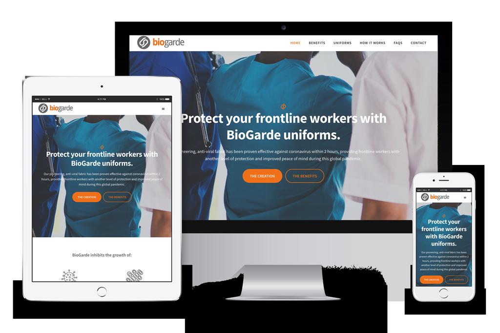 BioGarde Website Visual
