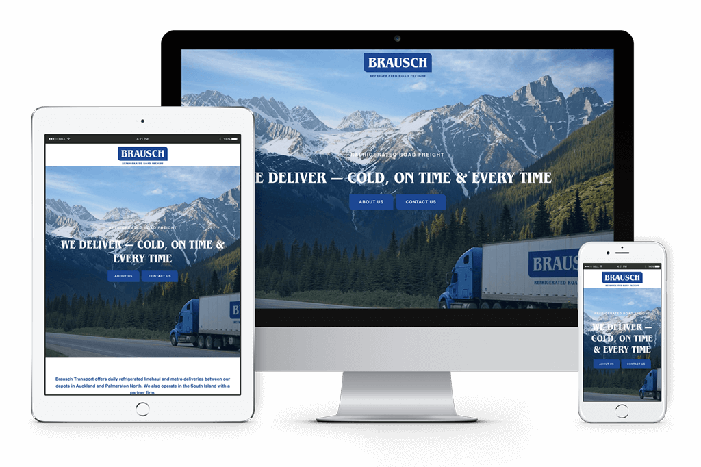 Brausch Transport Website Visual