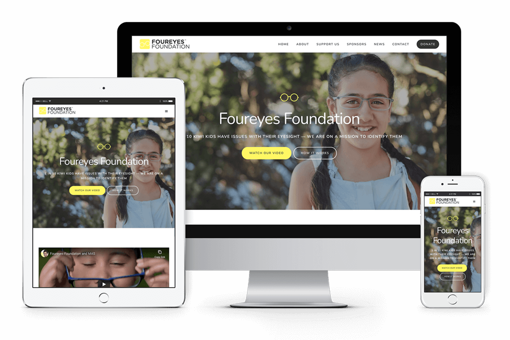 Foureyes Foundation Website Visual