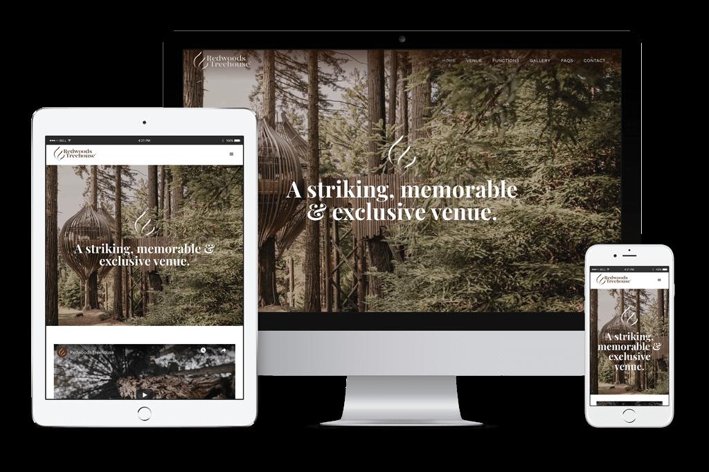 Redwoods Treehouse Website Visual