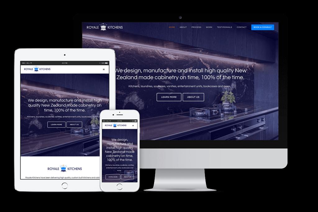 Royale Kitchens Website Visual