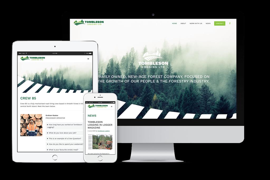 Tombleson Logging Website Visual
